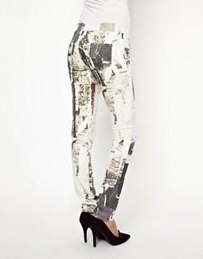 Image 2 ofDiesel Livier Printed Skinny Jeans