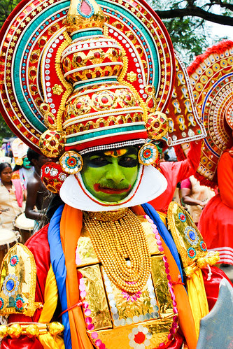 A kathakali actor with Mustache