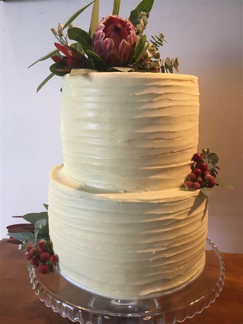 Semi naked wedding cake   Australian native flowers   my