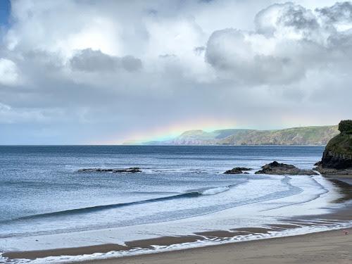Unusual low rainbow in Aberporth