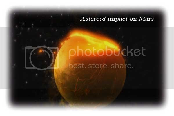 Asteroid impact on Mars