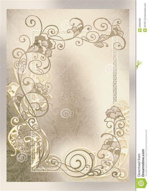 Wedding Invitation, Frame Lace like Stock Illustration