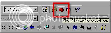 Esse botão Habilita/Desabilita as Ferramentas do ArcToolBox