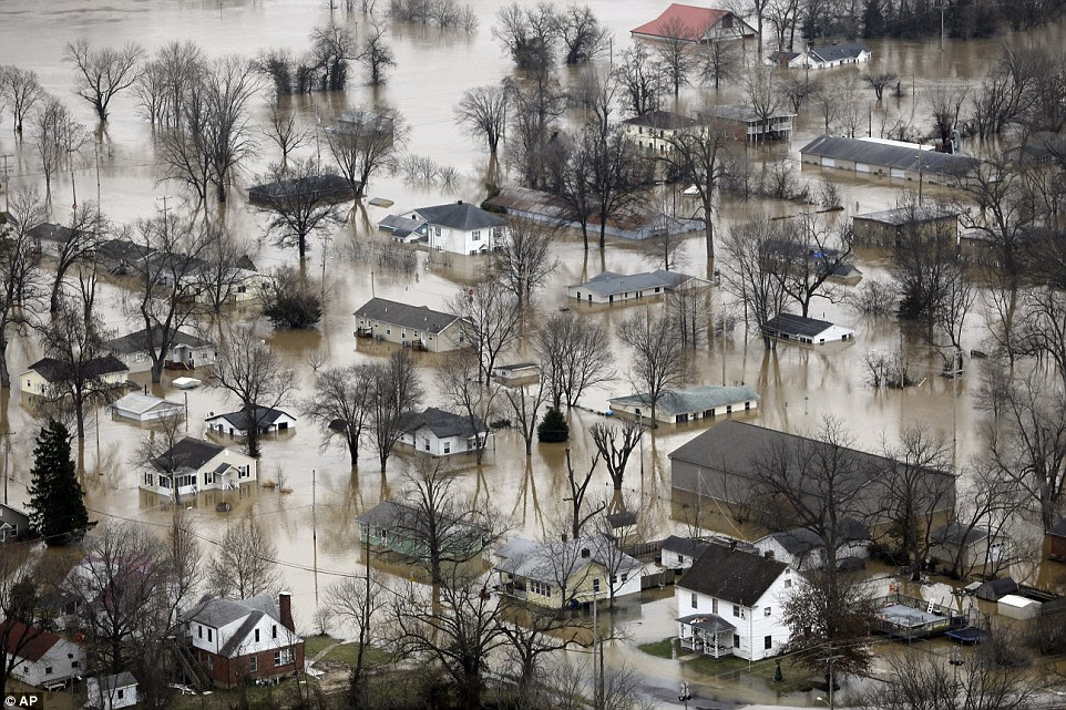 Forecasters warned that the devastation could rival that seen in the area in 1993, when severe flooding left 50 dead and caused $15billion in damage