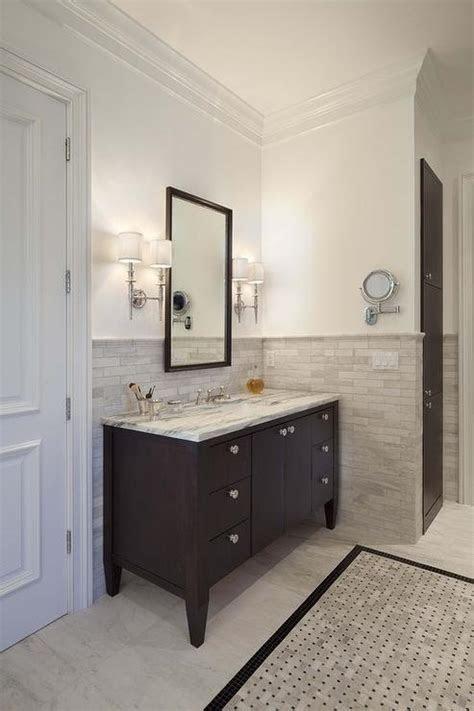 tiled wall traditional bathroom