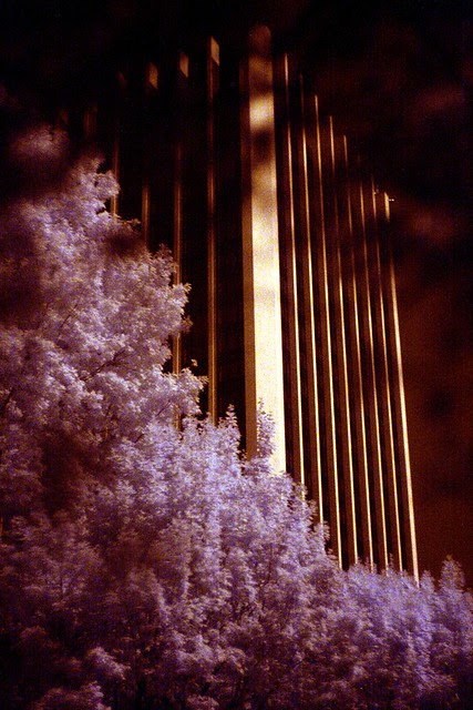 wells fargo tower, infrared