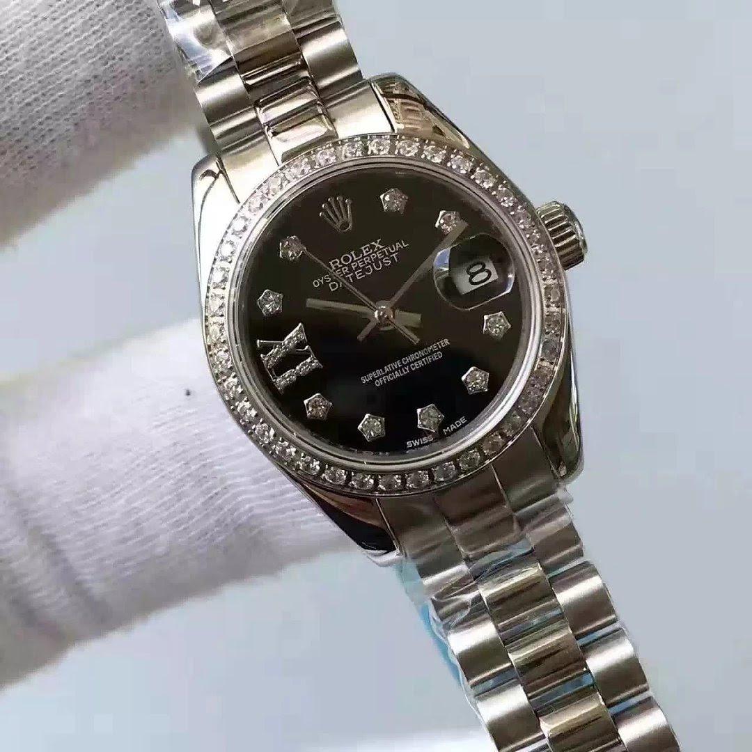 Replica Rolex Lady Datejust 33mm Black