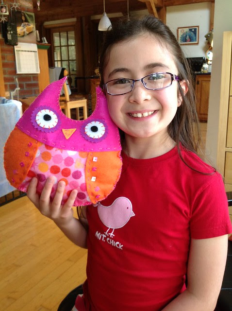 Dova and her American Girl Sew and Stuff Owl