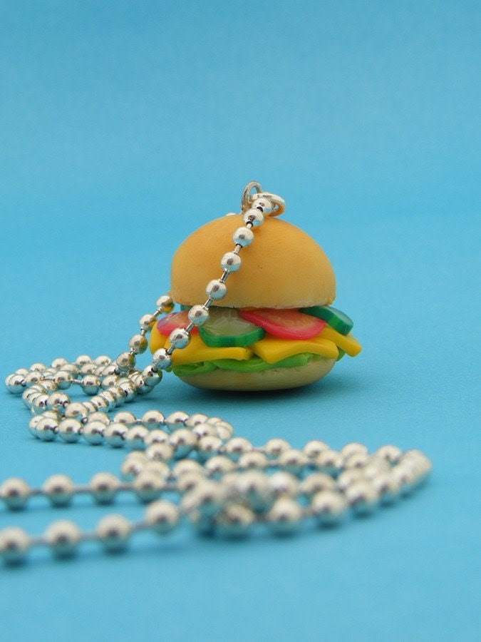Hard Cheese Sandwich Necklace