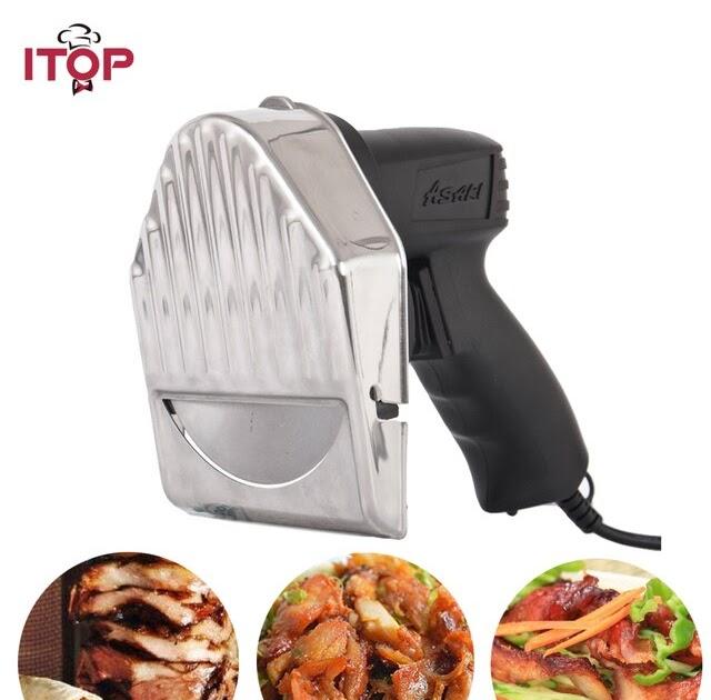 Electric Shawarma Cutter Slicer Dining Cutlery Gyros Doner Kebab Meat Carver