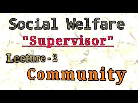 Social welfare  supervisor topic in Community ssbjk.in jkssb.nic.in supervisor notes