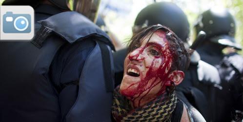 La Marcha Minera concluye con ocho detenidos y 76 heridos tras una dura carga policial