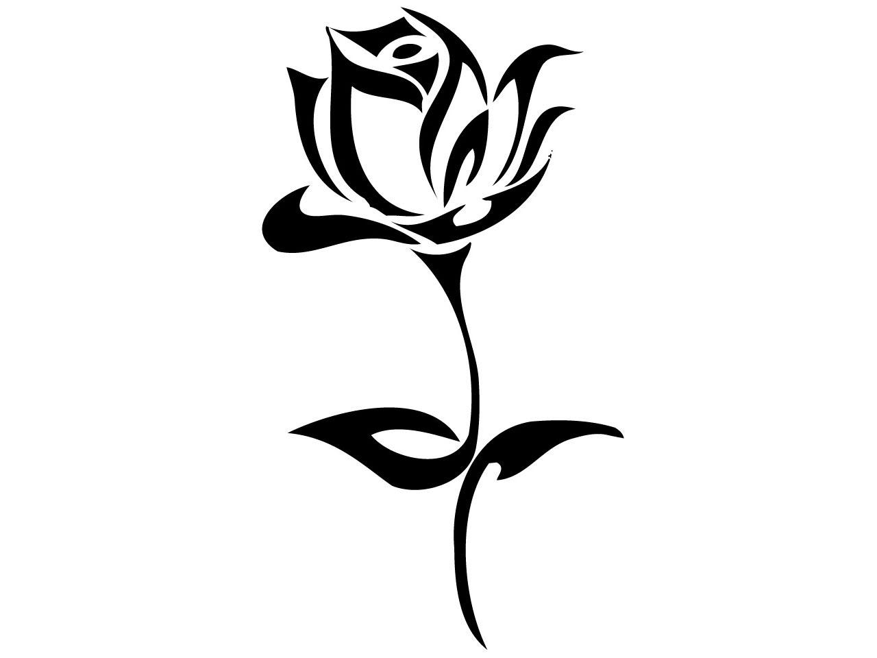 Tribal Rose Tattoo Design