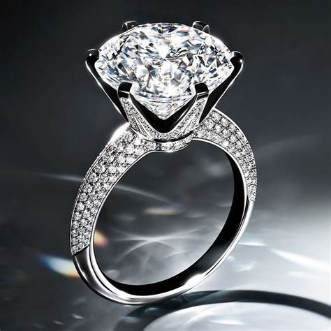 The Tiffany® Setting Engagement Ring with Pavé Diamond