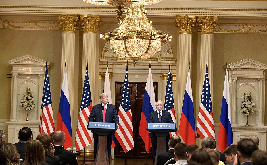 Vladimir Putin and Donald Trump made press statements and answered journalists' questions.