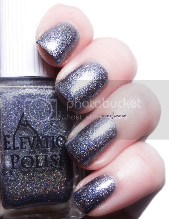 xoxoJen's swatch of Elevation Polish Eyes Made of Glimmering Coal