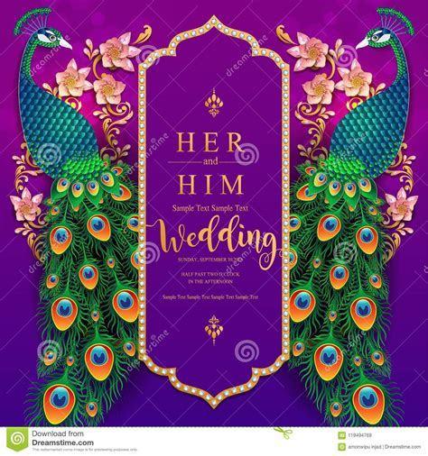 Wedding Invitation Card Templates . Stock Vector
