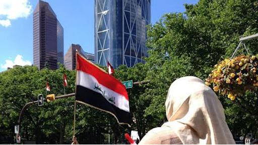 In the second rally in two days, dozens of Calgary Muslims gathered outside City Hall Sunday to protest ISIS violence in Iraq.