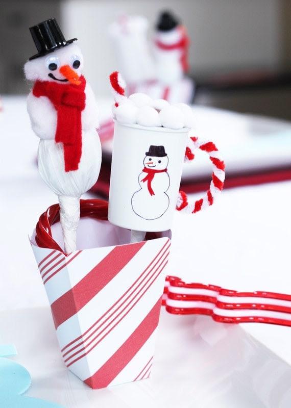 Snowman Soup / Hot Chocolate Printable Party Set