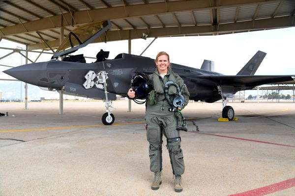 Colonel Gina 'Torch' Sabric is the first female F-35 pilot in the U.S. Air Force Reserve.