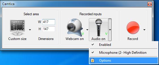 Camtica dispositivos de audio