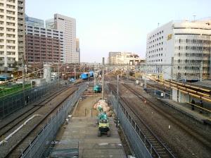川崎の京浜東北線脱線現場