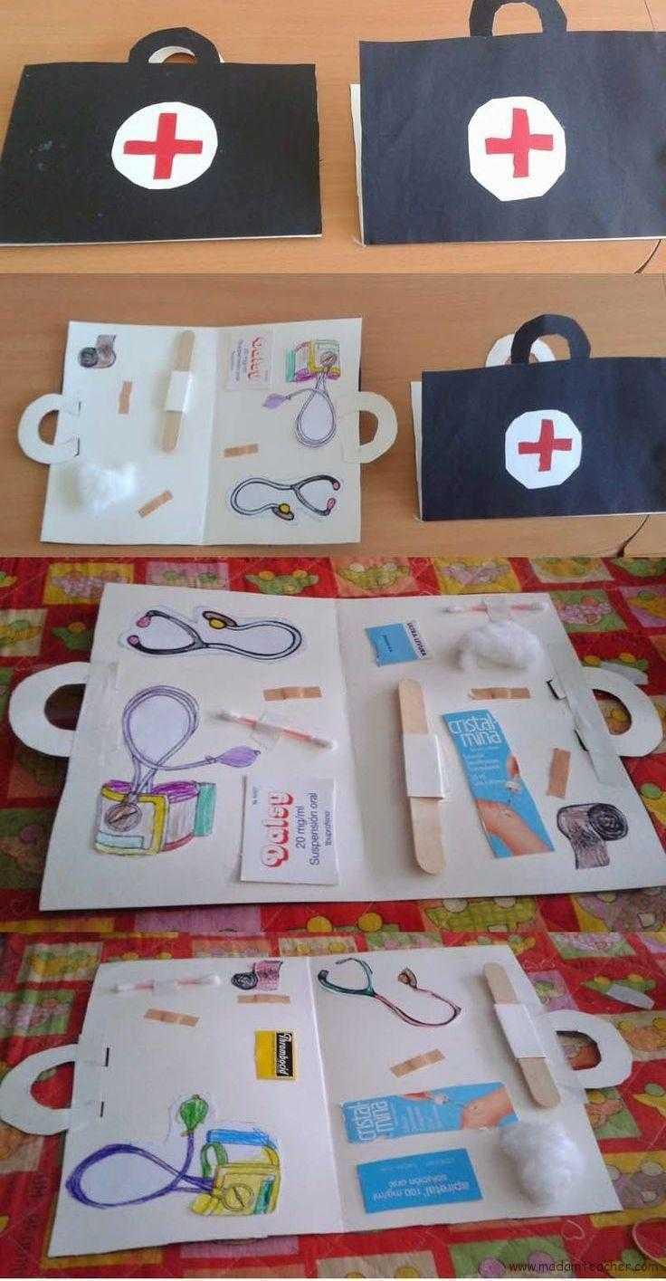 Sağlık Haftası Için Ilk Yardım çantası Okul öncesi Etkinlik