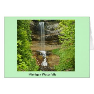 Michigan Waterfalls Greeting Card