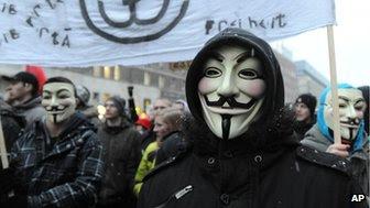 Anti-ACTA protest in Warsaw