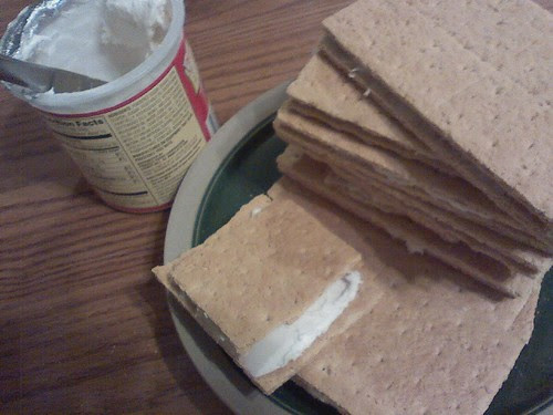 What do u do with left over frosting? Me  it's best spread on graham crackers