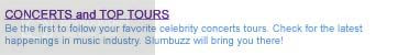 slam buzz CONCERTS