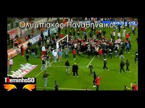 Olympiakos - Panathinaikos Invasione di campo e aggressione 19-2-2011