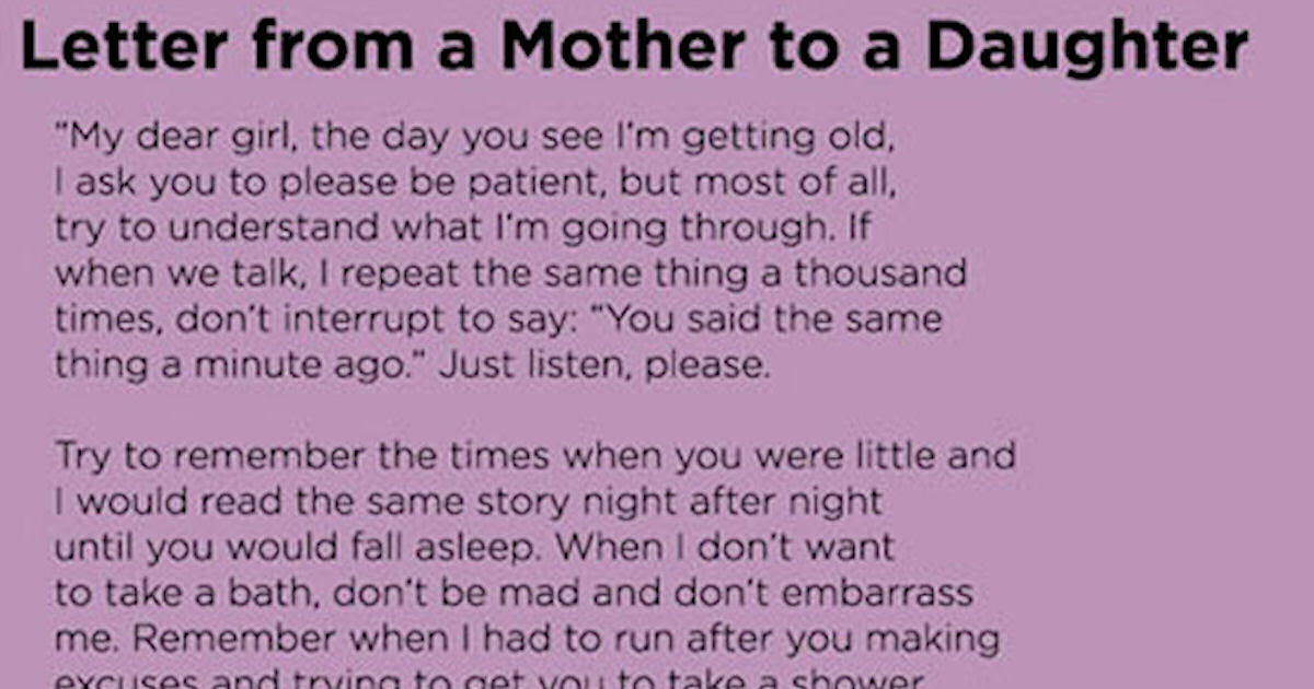 Letter From A Mother To Daughter Pictures Photos And Images For