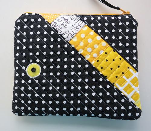 Yellow & Black Pouch - back