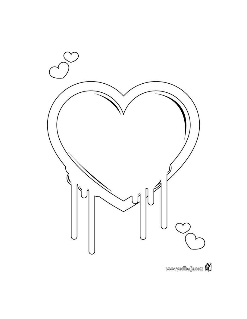 Dibujos Para Colorear Flores Y Corazón Eshellokidscom