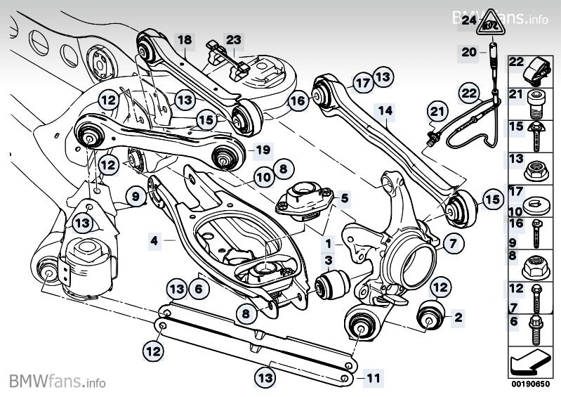 Querlenker Hinten Wechseln E90 E91 E92 E93 Fahrwerk Bremsen