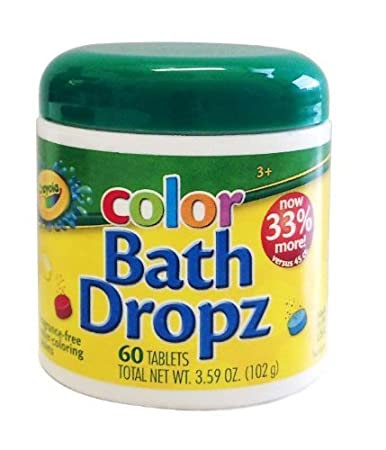 Play Visions Crayola Bath Dropz 3.59 oz 60 Tablets
