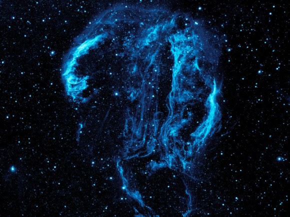 The Cygnus Loop in Ultraviolet. Captured by Galex. Image credit: NASA