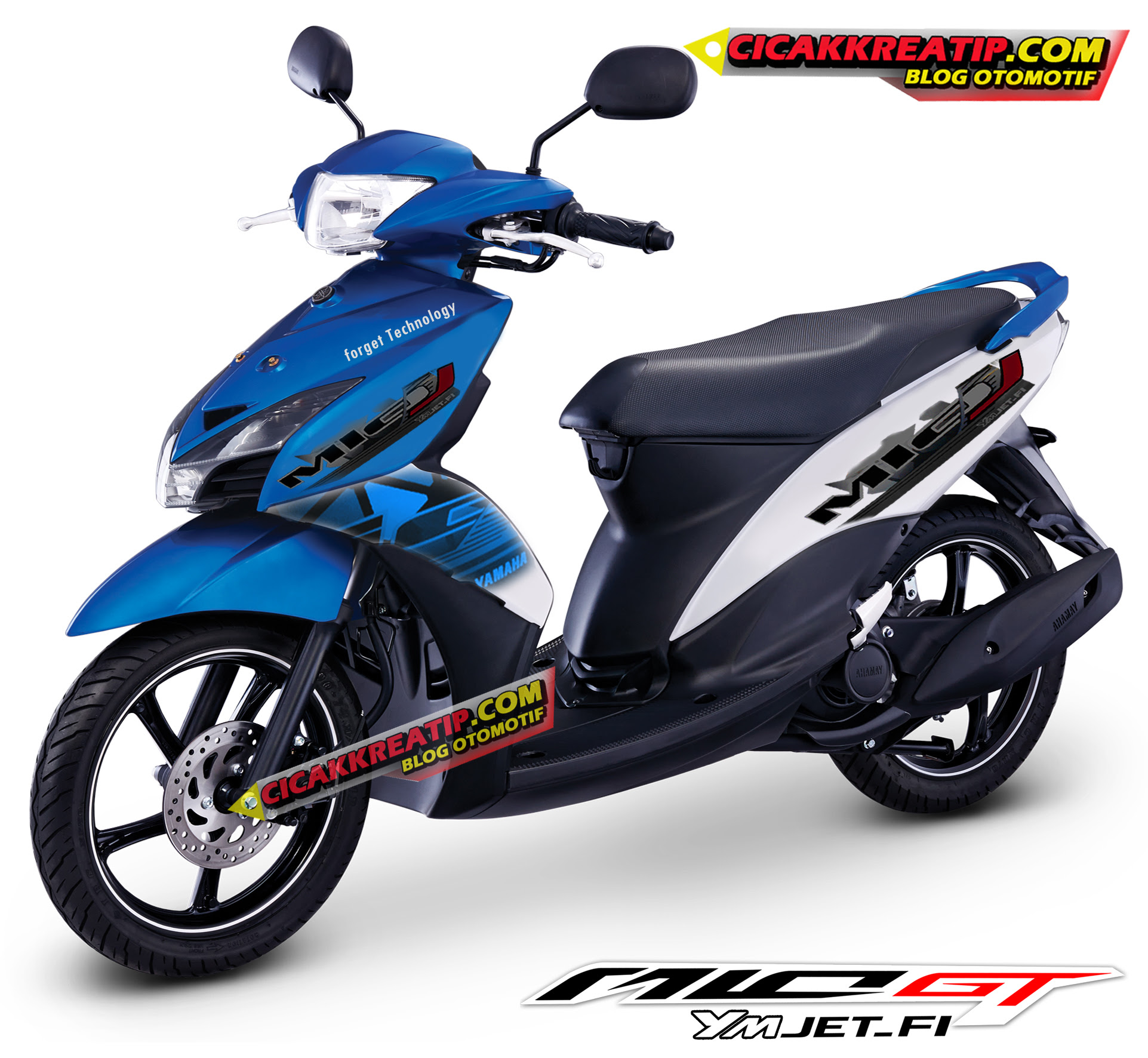 Download Koleksi 96 Modifikasi Motor Mio Gt Warna Biru Terupdate
