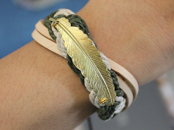 Harry Potter Golden Feather Jewelry Bangle Vintager Bracelet,Women Bracelet,Rope Bracelet Cuff, Leather Bracelet