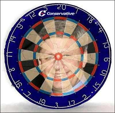 Stephen Harper dartboard
