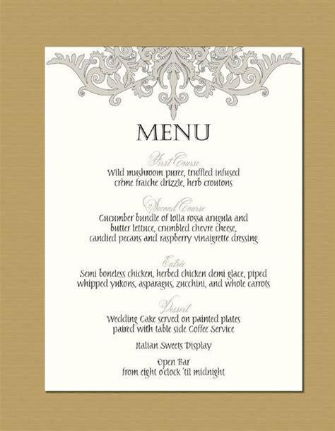 9 best wedding menu card ideas images on Pinterest
