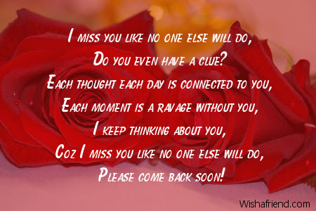 I Miss You A Lot Missing You Poem