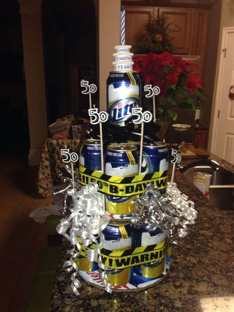 father in law 50th birthday miller lite beer cake