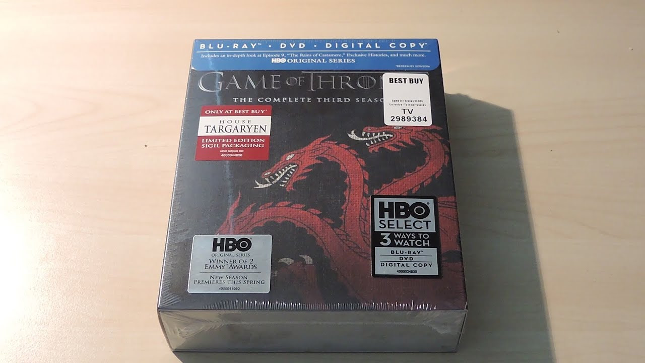 Game of Thrones Season 3 Blu-Ray Unboxing (House Targaryen