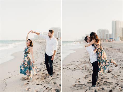 Miami Beach Candid Engagement Photography   Destination