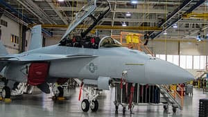 Boeing's Super Hornet - a two-seat, two-engine fighter jet - does not have the same level of stealth capability of the F-35, but it comes in at a much lower price.