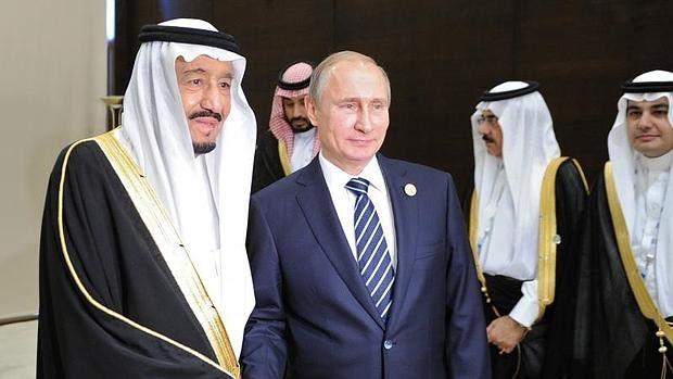 Vladímir Putin con el rey saudí Salman bin Abdulaziz Al Saud en la reunión del G-20 en Antalya (Turquía)
