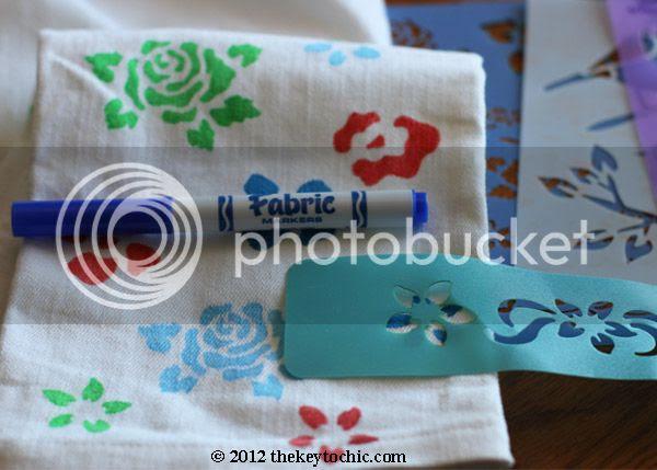 floral print denim D.I.Y., flower jeans