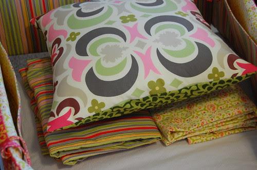 pillow and crib sheets